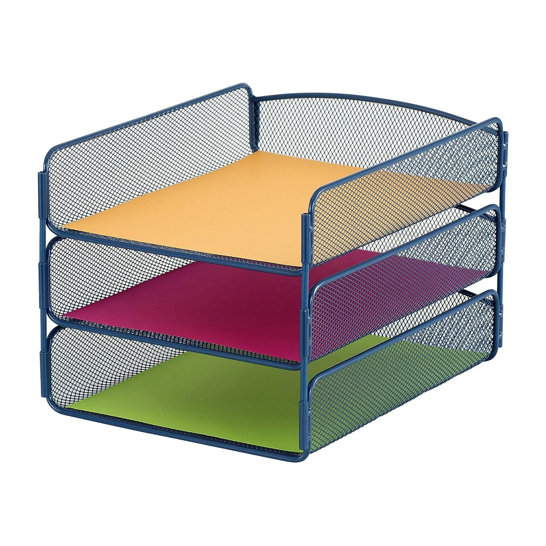 Desk Organizer Amazoncom Safco Products 3271bl Onyx Mesh Desktop Organizer