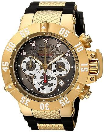 Invicta Men's 'Disney Limited Edition' Quartz Gold-Tone and Silicone Casual  Watch,