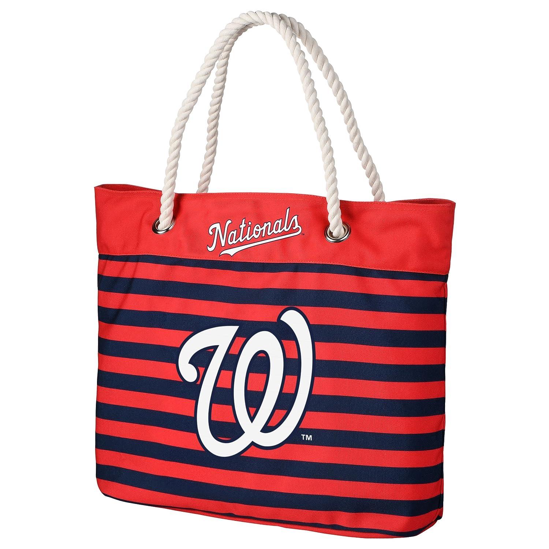 FOCO MLB Unisex Nautical Stripe Tote Bag