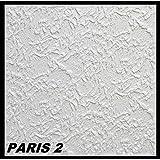 20 m² Deckenplatten Styroporplatten Stuck Decke Dekor Platten 50x50cm, PARIS 2