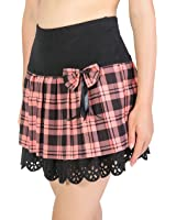 Upgraded Women's Girl's A Line High Waist Plaid Pleated Flared Mini Skirt Tartan Kilt by TOFLY
