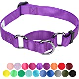 Blueberry Pet Classic Solid Color Safety Training Martingale Dog Collar, No Buckle, with Personalization Options
