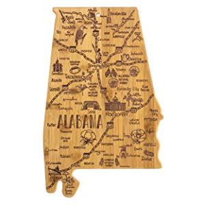 Totally Bamboo Alabama State Destination Bamboo Serving and Cutting Board