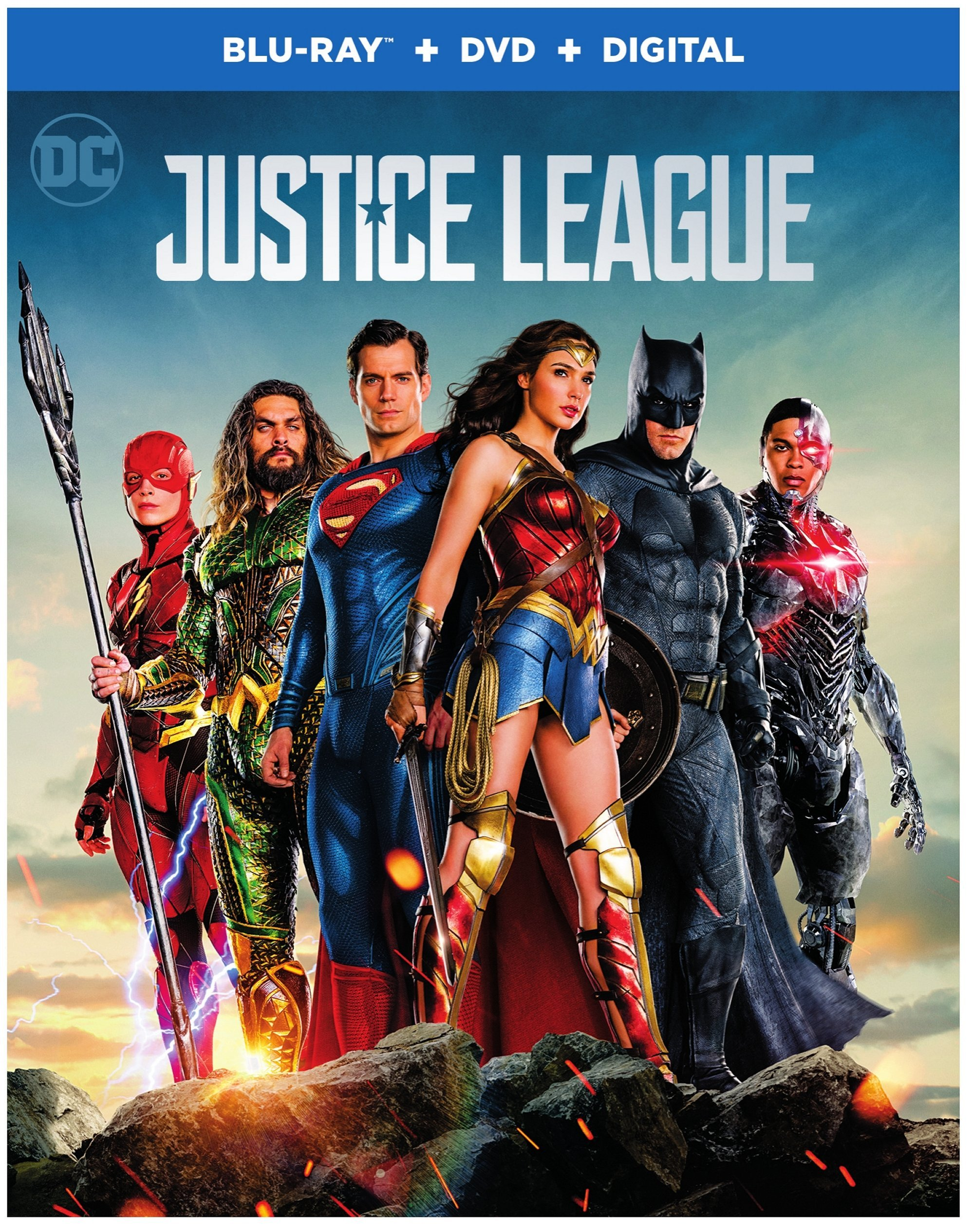 Justice League (With DVD, Ultraviolet Digital Copy, 2 Pack, Subtitled, Dubbed)