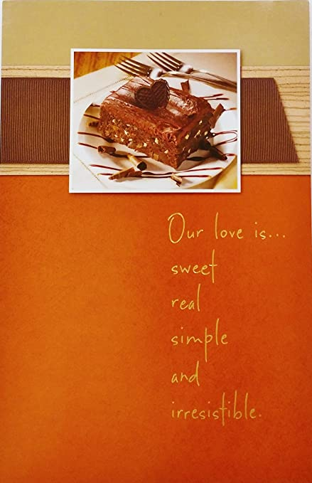 Amazon Com Romantic Happy Birthday Greeting Card Our Love Is