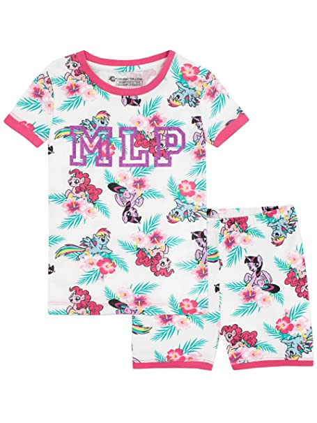 My Little Pony Girls Pinkie Pie Rainbow Dash and Twilight Sparkle Pajamas Size 3T Multicolored