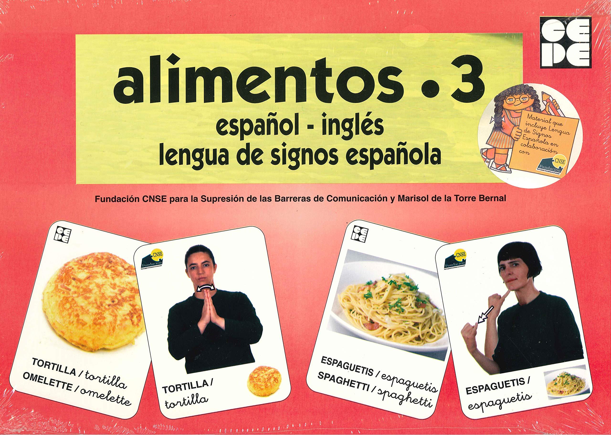 Vocabulario fotográfico elemental - Alimentos 3 elaborados Vocabulario fotográfico elemental español,inglés,lengua de signos española: Amazon.es: CNSE, Fundación, de la Torre Bernal, Marisol: Libros