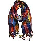 Outrip Women's Fashion Big Grid Winter Warm Large Plaid Scarf Blanket Stylish Long Shawl Wrap