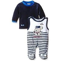 Twins Unisex Baby Ringel-Strampler mit Bärchen-Motiv im Set mit Ringel-Shirt