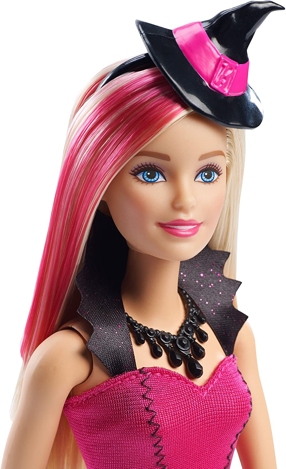 """HIGH QUALITY BARBIE  /""""Black HARD RUBBER BENT  WITCH Hat  WITH FEATHERS NEW"""