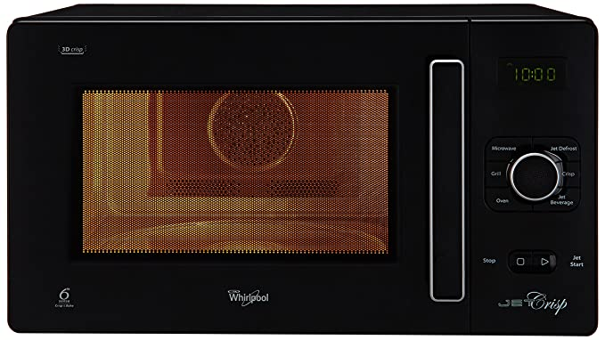 Whirlpool 25 L Convection Microwave Oven (25L CRISP CONV. MW OVEN-BLACK, Black)