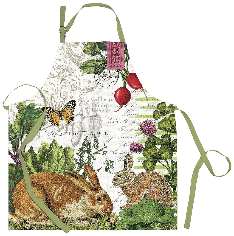 Amazoncom Michel Design Works Cotton Chef Apron Garden Bunny - Michel design works kitchen towel