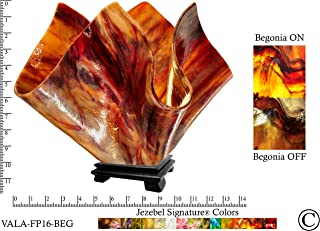 product image for Jezebel Signature Large Flame Begonia Glass Vase Lamp