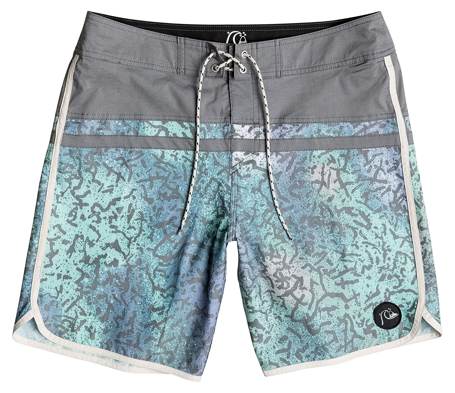 Quiksilver Scallop Men's Stomp Cracked 18?Inch Boardshorts
