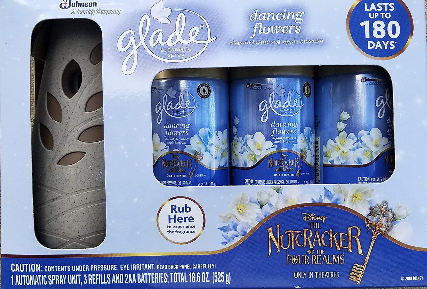 Glade Automatic Spray Starter Set, Dancing Flowers, 3 Refills + 1 Sprayer