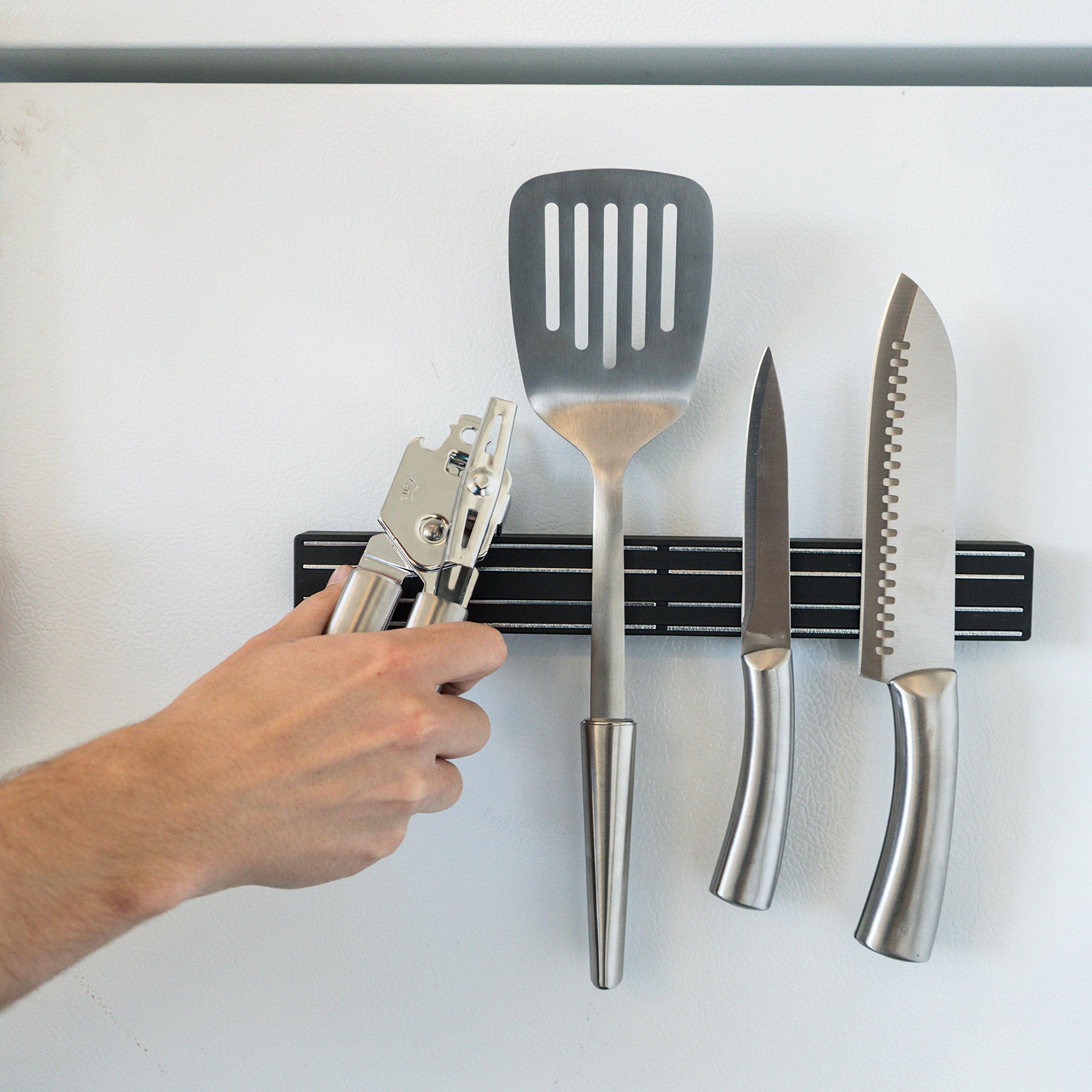 Master Magnetics Magnetic Tool Holder/Magnetic Knife Holder, 12-inch Double-Sided Magnet Strip, Mount on Metal Surface (Black) 07577 by Master Magnetics (Image #6)