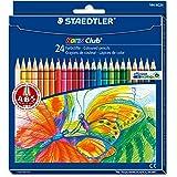 Staedtler 144 NC24 Buntstifte Noris Club (erhöhte Bruchfestigkeit, sechskant, Set mit 24 brillanten Farben, ABS-System, kindgerecht nach DIN EN71, umweltfreundliches PEFC-Holz, Made in Germany)