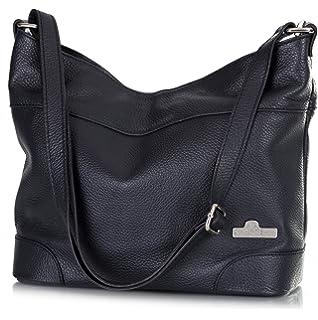 e6651f79822af5 LiaTalia Womens Genuine Italian Leather Medium Size Hobo Shoulder Handbag -  Jane