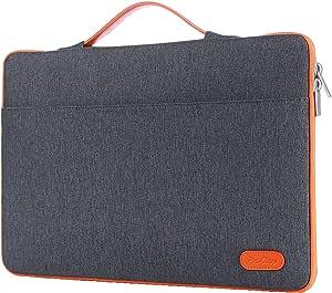 "ProCase 14-15.6 Inch Laptop Sleeve Case Protective Bag, Ultrabook Notebook Carrying Case Handbag for MacBook Pro 16"" / 14"" 15"" 15.6"" Dell Lenovo HP Asus Acer Samsung Sony Chromebook Computer –DarkGrey"