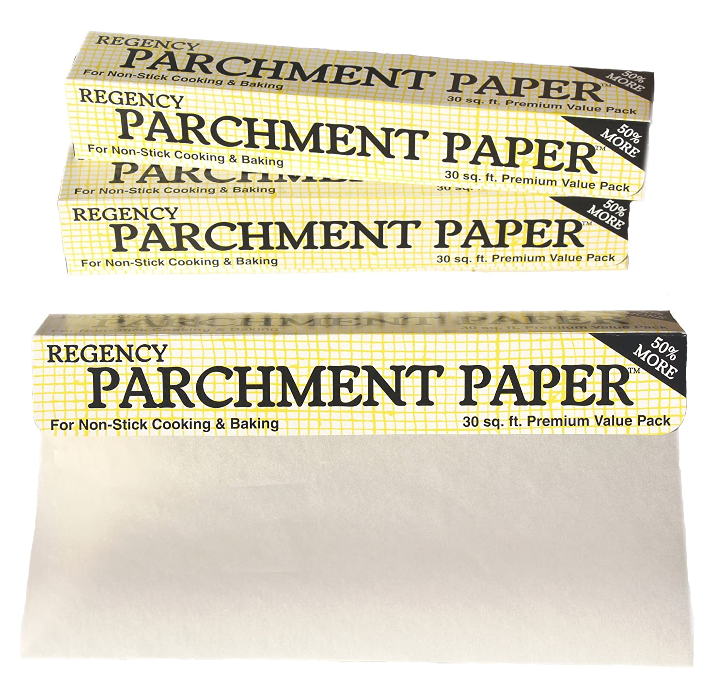 Regency Wraps Parchment Paper Non Stick Cake Pan and Cookie Sheet Liner for Cooking and Baking 30-Feet Roll