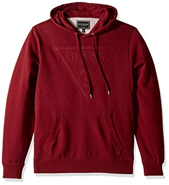 8979aca26e8 GUESS Men s Roy Debossed Logo Hoodie at Amazon Men s Clothing store