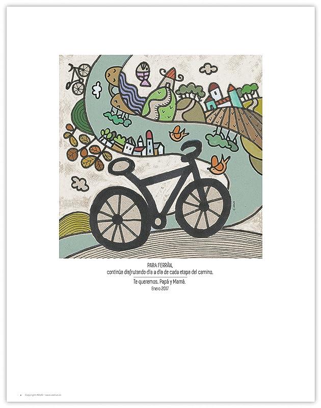 Lámina 25x32cm. La bicicleta | Làmina 25x32cm. La bicicleta ...