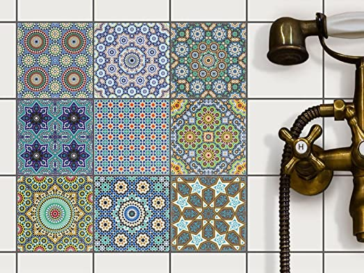 Kitchen Tile Stickers   Backsplash Protection | Self Adhesive Decorative  Wall Tile Transfers For Bathroom Tiles Part 73
