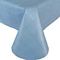 Newbridge Basketweave Solid Color Vinyl Flannel Backed Tablecloth, Basket Weave Textured Look Indoor/Outdoor Waterproof…