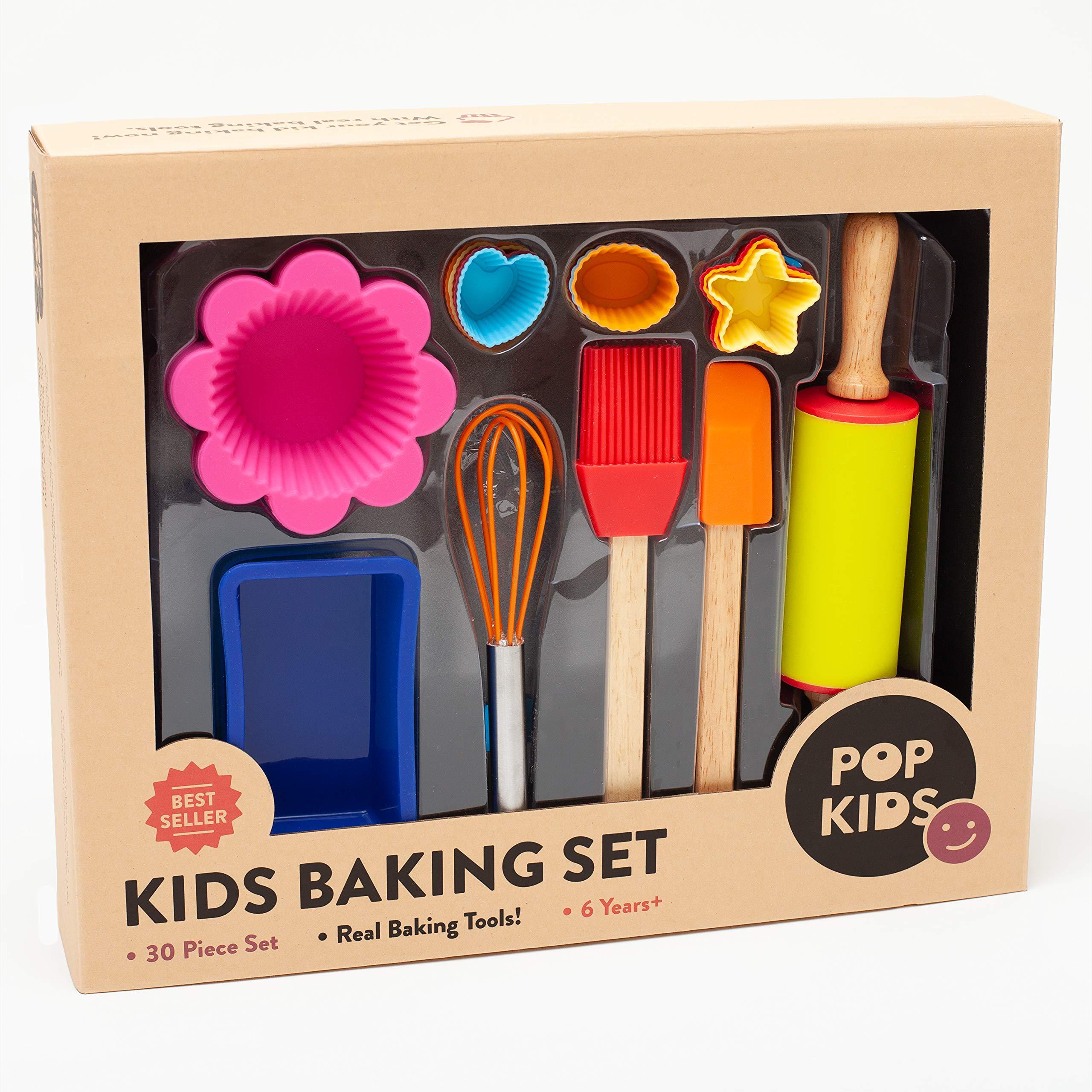30-Piece Pop Kid's Baking Set for Family Fun Premium Kit for Children Learning to Bake by Pop Kids