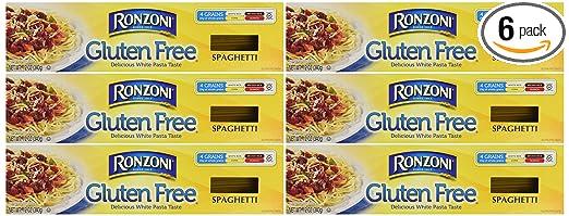 Ronzoni - Pasta sin gluten, caja de 12 onzas (6 unidades ...