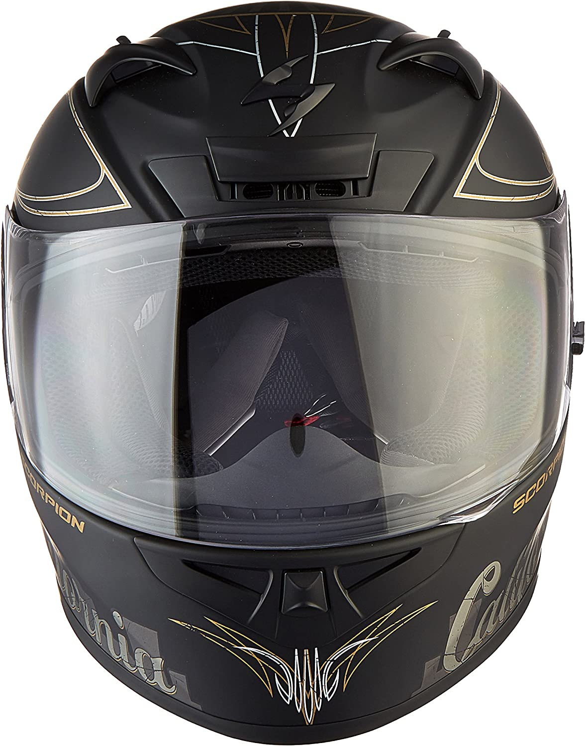 Scorpion EXO-R710 Golden State Street Motorcycle Helmet Black, Small