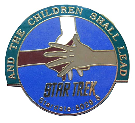 Enamel pin Star Trek episode And the Children Shall Lead out