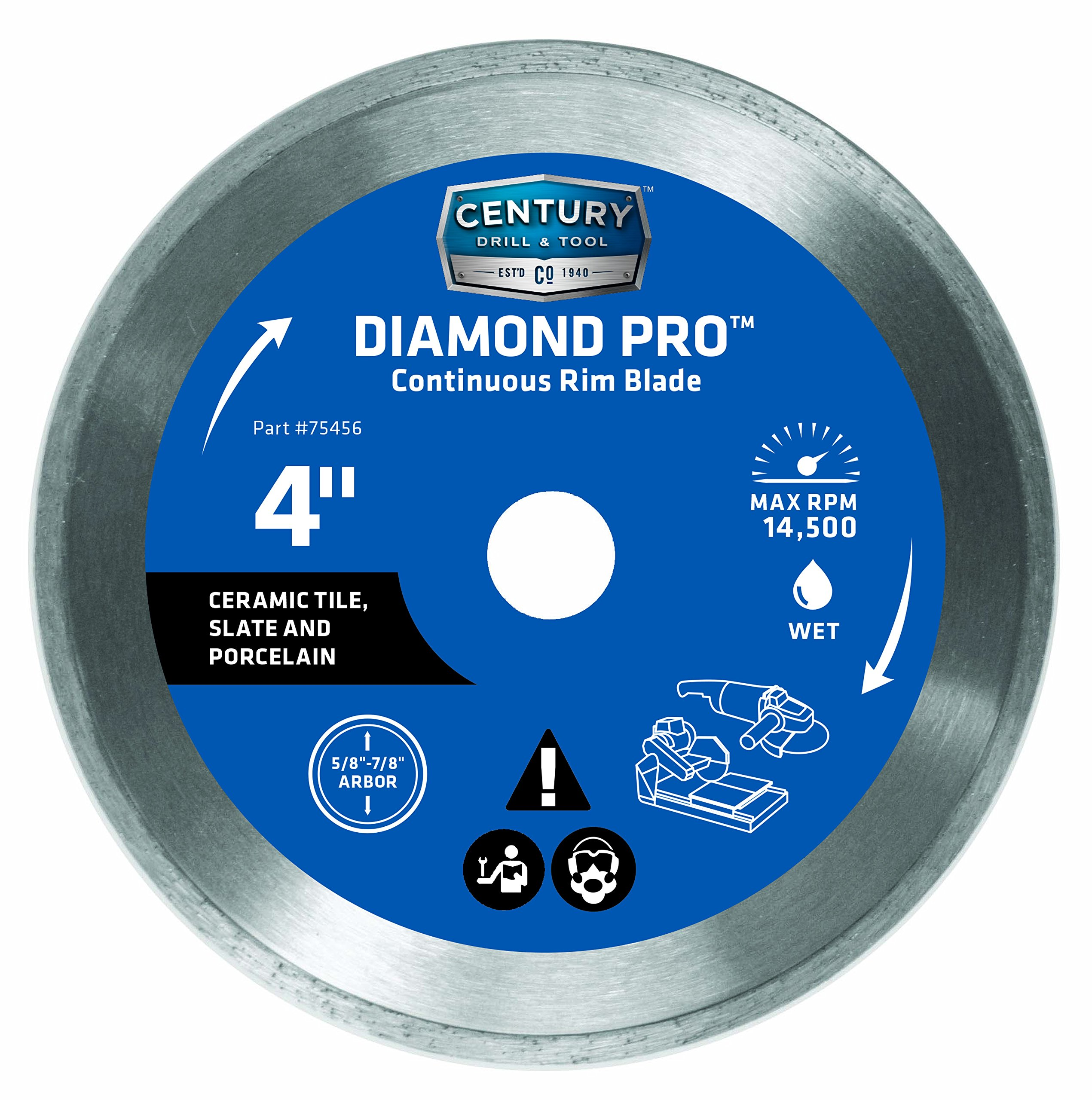 Century Drill and Tool 75456 Professional Continuous Rim Diamond Saw Blade, 4-Inch