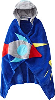 Kidorable Space Hero All-Cotton Hooded Blue Towel for Boys w/Fun Astronaut Helmet