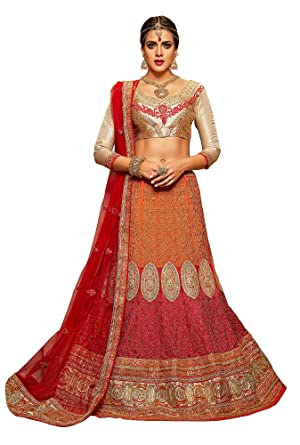 0406a057b7f Image Unavailable. Image not available for. Color  Aasvaa Perfect Women s  Embroidered Crep Lehenga Choli ...