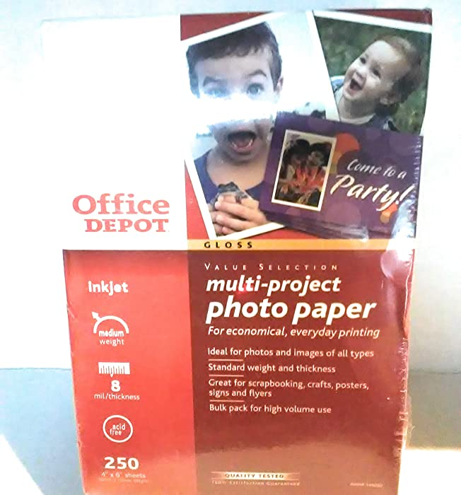 Top 9 Office Depot Multi Project Photo Paper