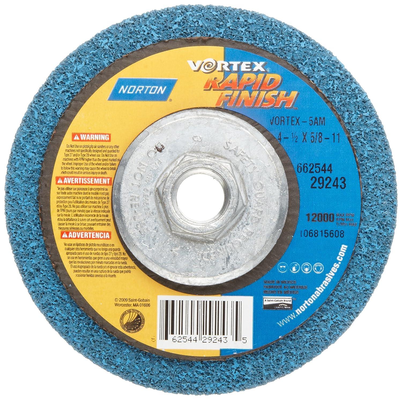 4-1//2 Diameter Norton Non-Woven Depressed Center Rapid Strip Wheel Grit Coarse 5//8-11 Arbor Hub Pack of 1