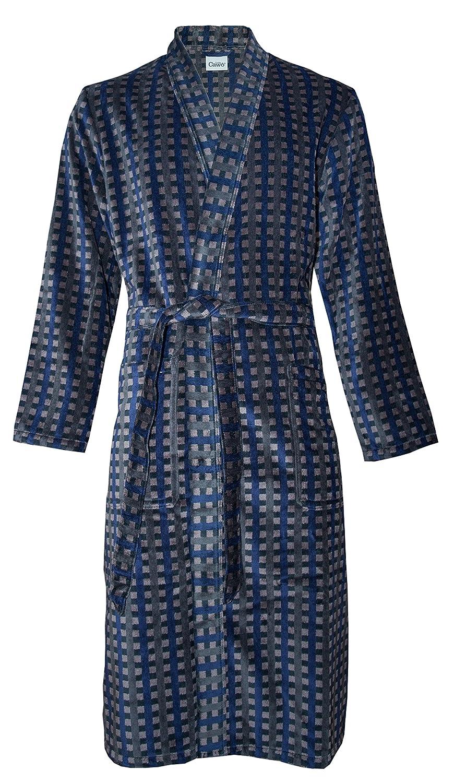 Cawö Herren Bademantel Saunamantel Velours Qualität Kimono Form