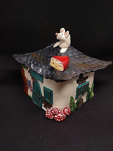 Caja decorativa del Ratoncito Pérez color crema: Amazon.es: Handmade