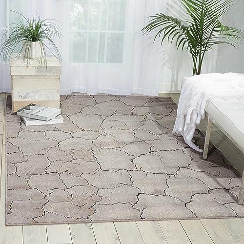 Nourison Utopia Granite Rectangle Area Rug, 9-Feet 6-Inches by 13-Feet 9 6 x 13