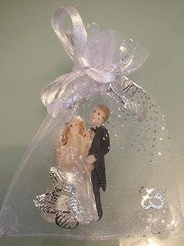 10 invitados regalo organza boda novia par de regalo para invitados EHE par Urkunde: Amazon.es: Jardín