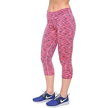 Deportes Hera Pantalón Corto 3 4 de Running Mallas Femenina de Correr  Compresivas Ligeras Yoga be0b8043e4d46
