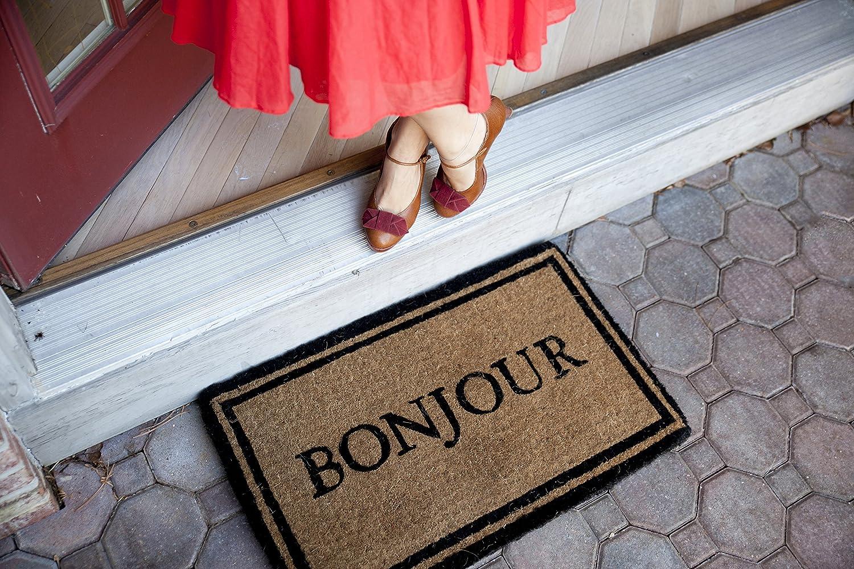 Amazon.com : Bonjour Hand Made Extra Thick Coconut Fiber Doormat ...