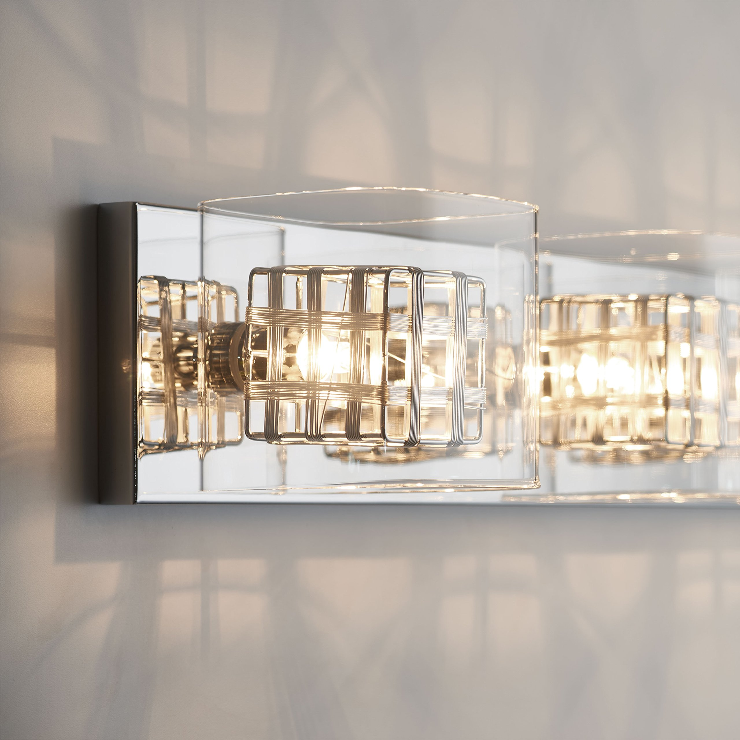 Artika VAN4M-HD1 Metropolitan 4-Light Bulbs, 30-inches Wall Fixture with Dimmable Light and a Chrome Finish by Artika (Image #4)