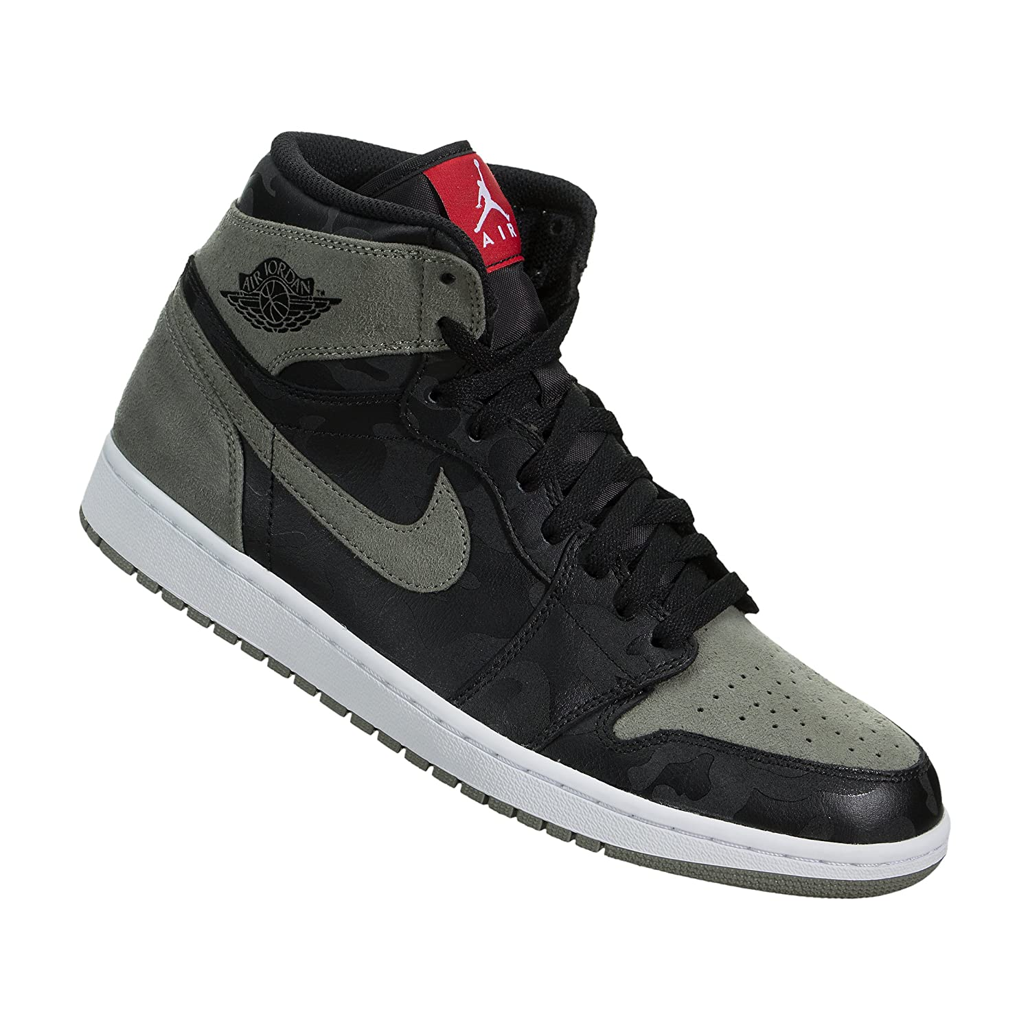 newest collection 224c6 424d3 ireland jordan pro jumpman black white 655cb c24f1  czech amazon mens air  jordan 1 retro high premium basketball 6739d b72ac
