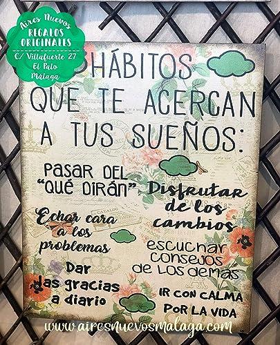 Cuadro De Madera Con Frases Y Mensajes Positivos E