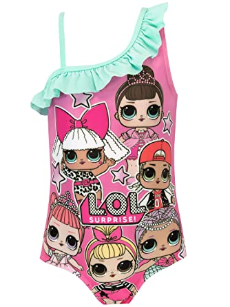 ce41a6f0a6 L.O.L Surprise! Girls Dolls Swimsuit Pink  Amazon.co.uk  Clothing