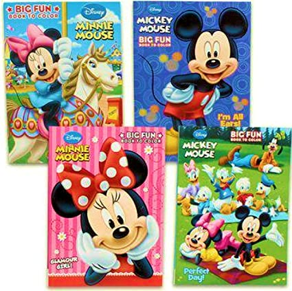 Amazon.com: Disney's Mickey Mouse & Minnie Mouse Plus Friends Activity And Coloring  Book (Set Of 4) By Bendon Publishing: Toys & Games