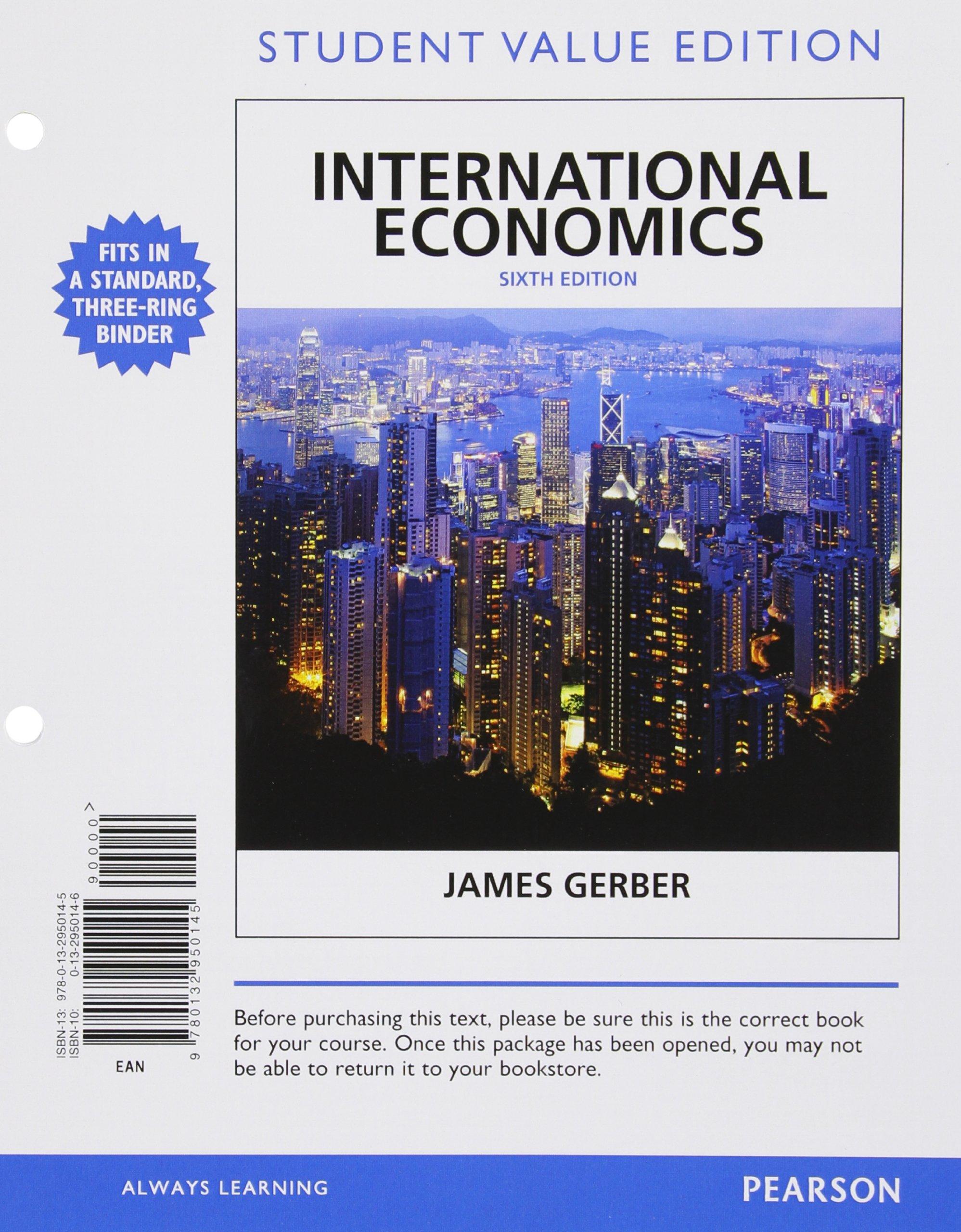 International economics student value edition 6th edition james international economics student value edition 6th edition james gerber 9780132950145 books amazon fandeluxe Gallery