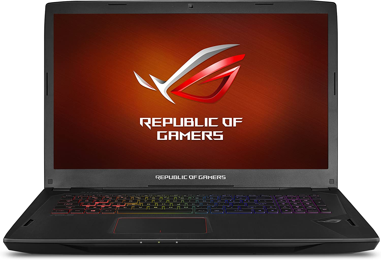 "ASUS ROG Strix Gaming Laptop, 17"" Full HD 120Hz Panel, Intel Core i7 2.8GHz GTX 1080 8GB, 16GB DDR4 256GB PCIe SSD 1TB HDD, Black Aluminum Hairline (GL702VI-WB74)"